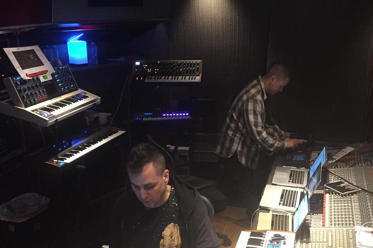Mike Dean in the studio