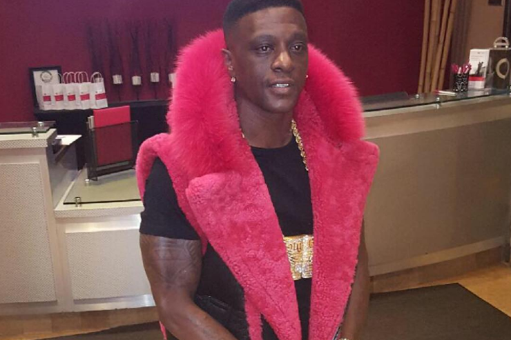 Boosie Badazz rocking red fur