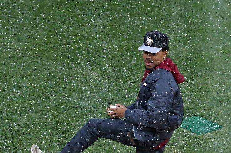 Chance The Rapper at the Cleveland Indians v Chicago White Sox