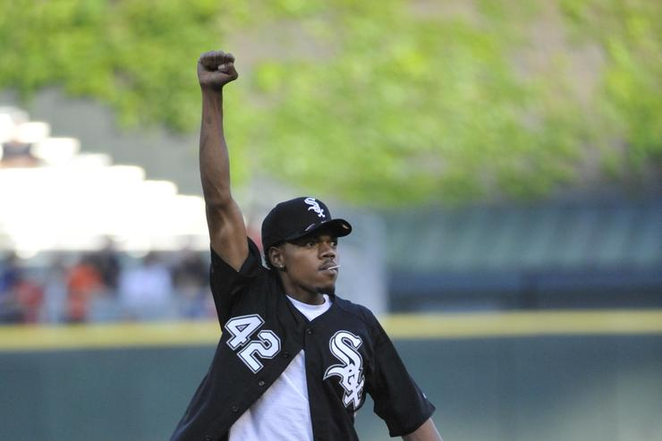 Chance The Rapper at San Diego Padres v Chicago White Sox