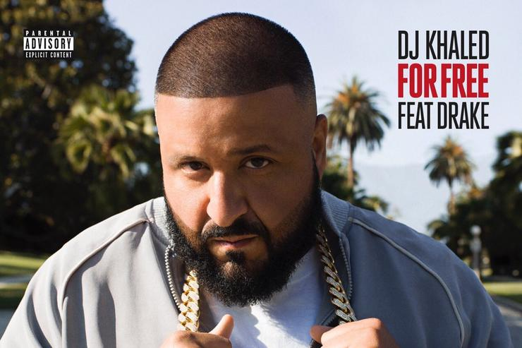 "artwork for DJ Khaled & Drake ""For Free"" single"