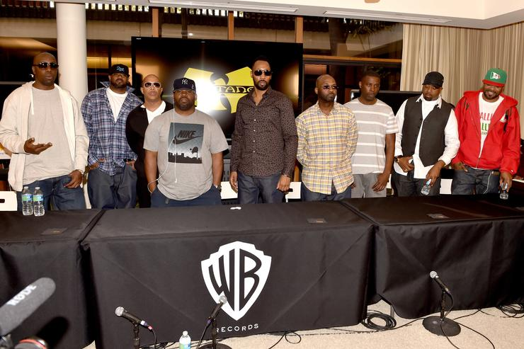 Wu-Tang Clan after signing with Warner