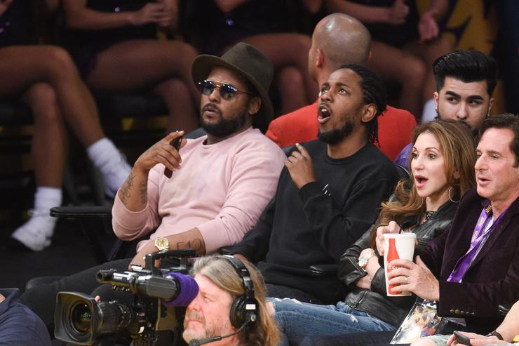 ScHoolboy Q and Kendrick Lamar at The Los Angeles Lakers Game