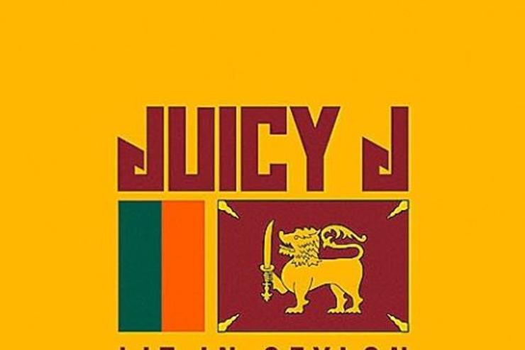 "Juicy J's ""Lit In Ceylon"" artwork"