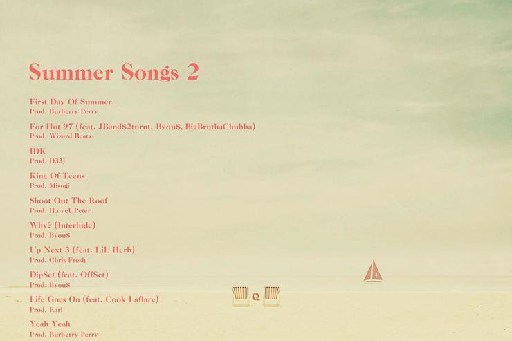"tracklist/ back cover to ""Summer Songs 2"""