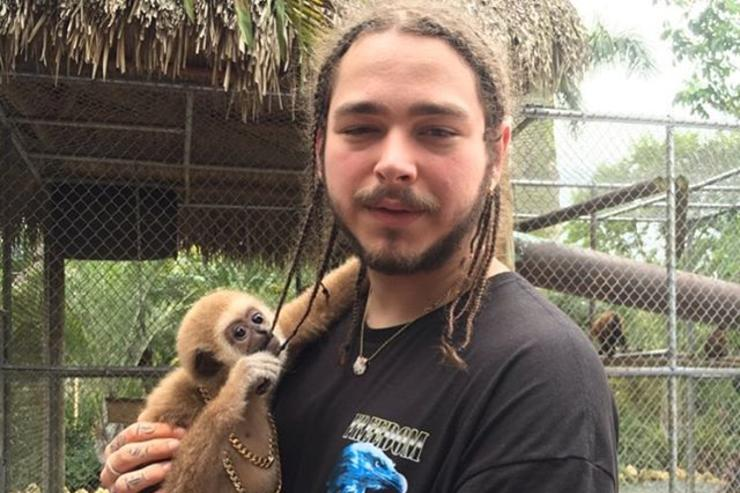 Post Malone and a cute animal