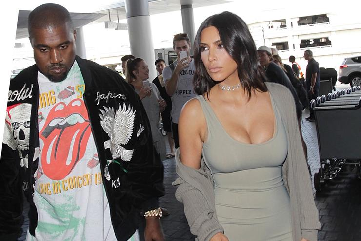 Kim Kardashian and Kanye West out in LA