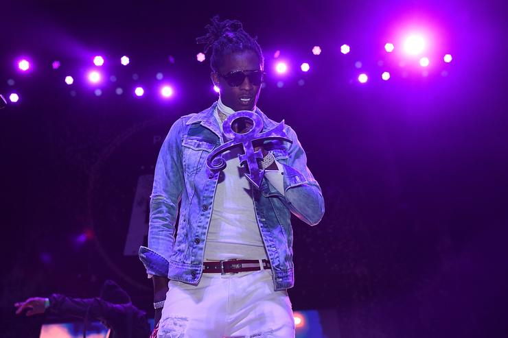 Young Thug performing in ATL