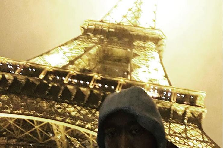 Freddie Gibbs in Paris, France, shortly before being arrested.