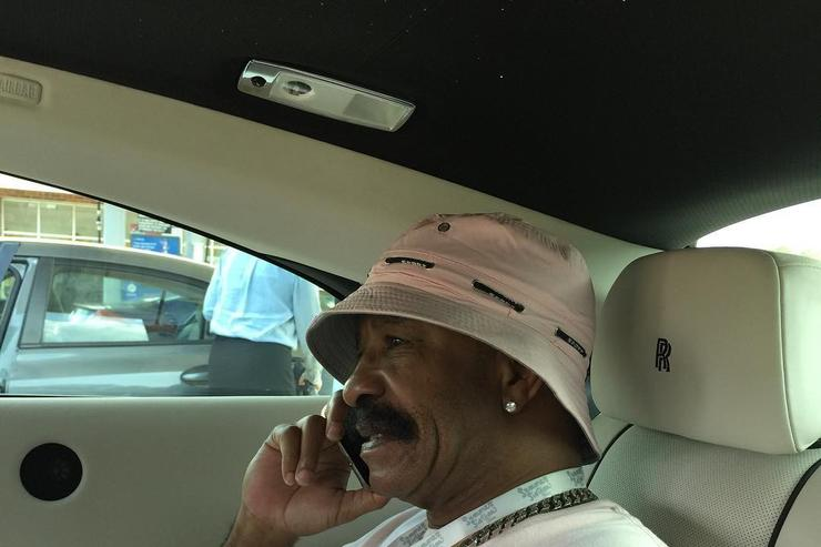 Drake's dad in an OVO polo