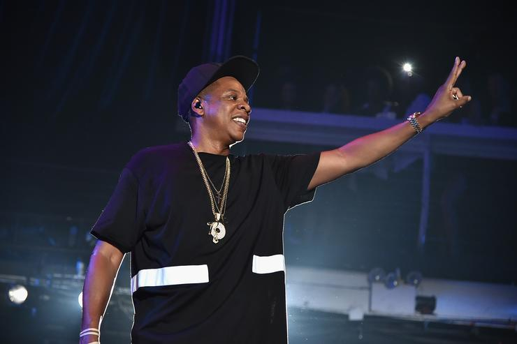 Jay Z performing at TIDAL event