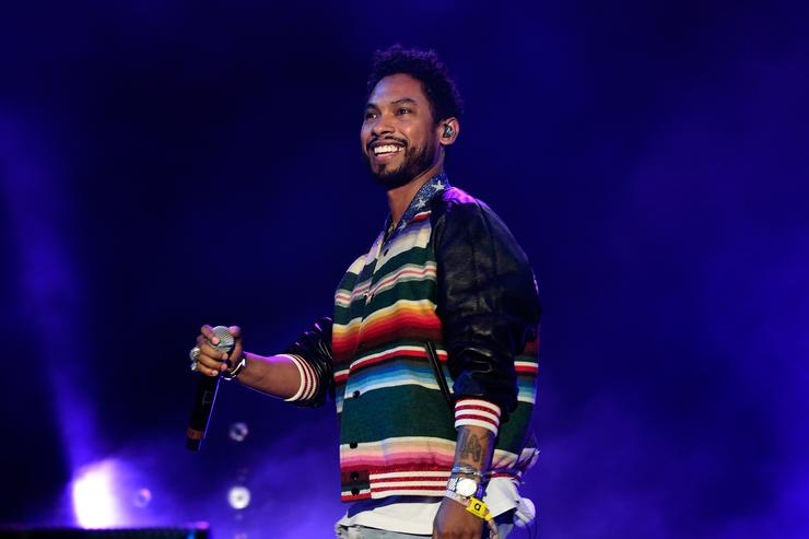 Miguel performing at Coachella