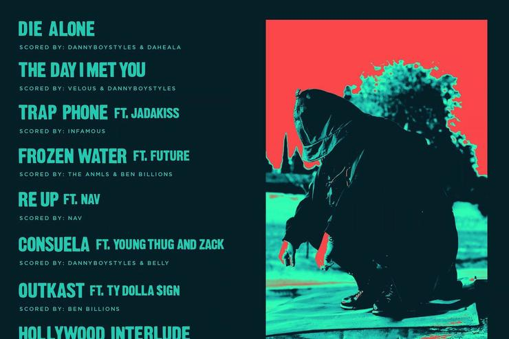 "tracklist & back cover for Belly's ""Inzombia"""