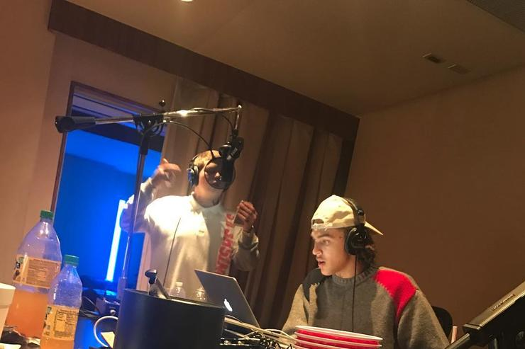 Yung Lean in the studio