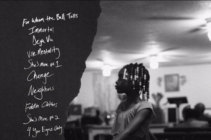 "tracklist for ""4 Your Eyez Only"""