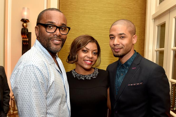 Director Lee Daniels, actress Taraji P. Henson and actor Jussie Smollett of Fox TV's Empire pose at the Fox Winter TCA All-Star Party at the Langham Huntington Hotel on January 17, 2015 in Pasadena, California.