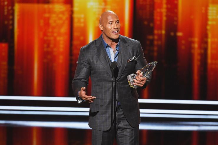 Dwayne Johnson at Peoples Choice Awards
