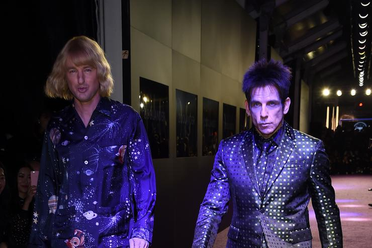 Actors Owen Wilson (L) and Ben Stiller attend the 'Zoolander 2' World Premiere at Alice Tully Hall on February 9, 2016 in New York City.