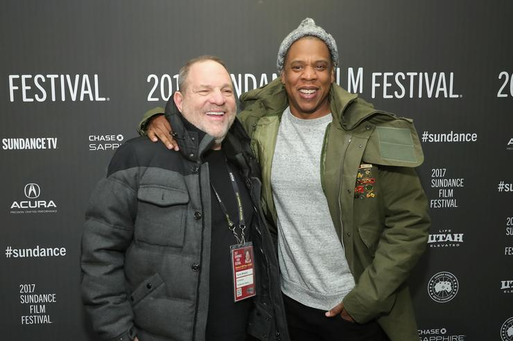 Jay Z & Harvey Weinstein at Sundance