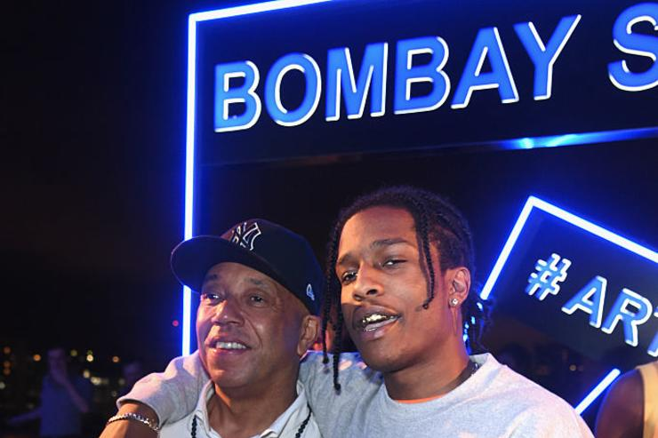 Russell Simmons (L) and ASAP Rocky attend the 7th Annual Bombay Sapphire Artisan Series Finale hosted by Russell and Danny Simmons at 11 11 Road on December 1, 2016 in Miami, Florida.
