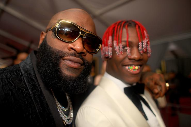 Rappers Rick Ross and Lil Yachty attends The 59th GRAMMY Awards at STAPLES Center on February 12, 2017 in Los Angeles, California.
