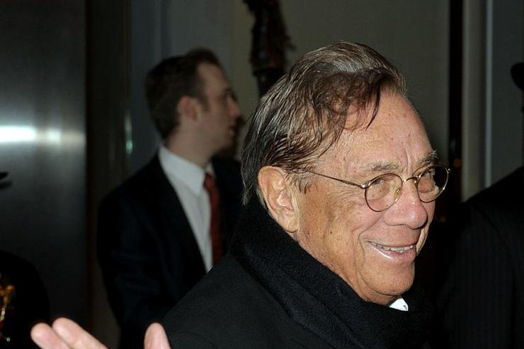 Los Angeles Clippers owner Donald Sterling arrives at City of Hope's Music and Entertainment Industry's Spirit of Life Gala in the Diamond Ballroom at the Ritz-Carlton and JW Marriott Hotels on January 13, 2010 in Los Angeles, California.