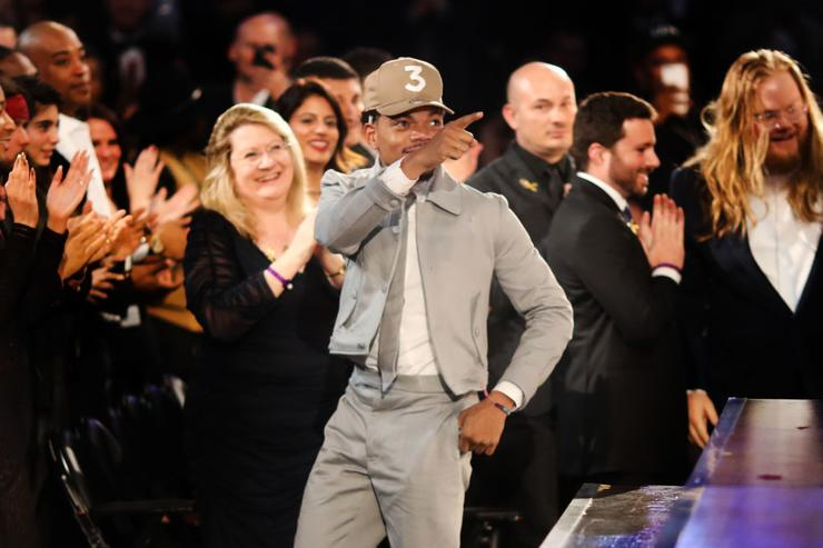 Hip Hop Artist Chance The Rapper during The 59th GRAMMY Awards at STAPLES Center on February 12, 2017 in Los Angeles, California.