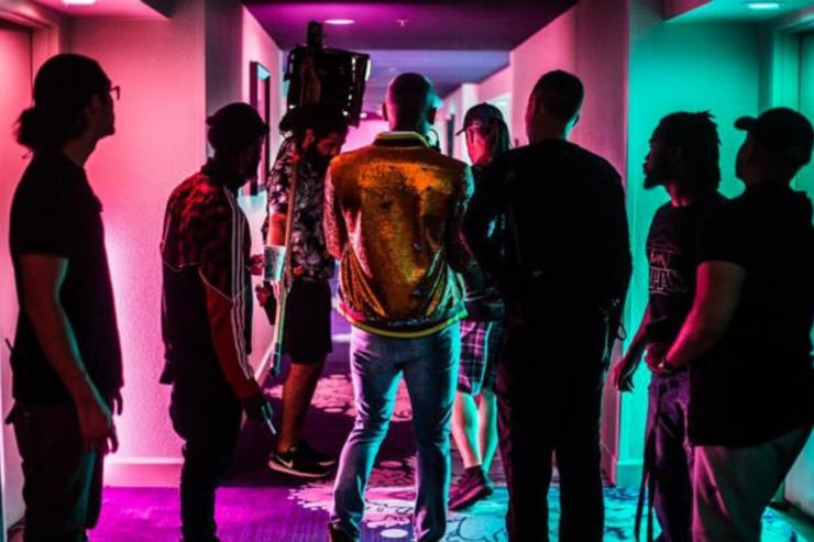 "Chris Brown video shoot for ""Privacy"""