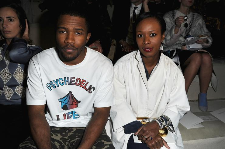 Frank Ocean Valentino - Front Row - PFW F/W 2013