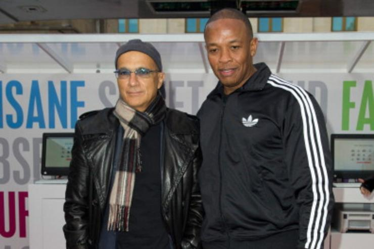 Jimmy Iovine and Dre at Beats By Dre Photocall