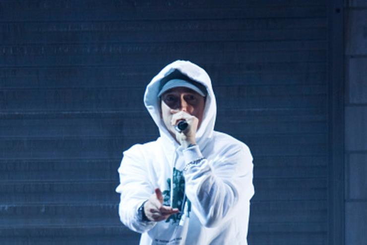 Eminem at Big Sean performance