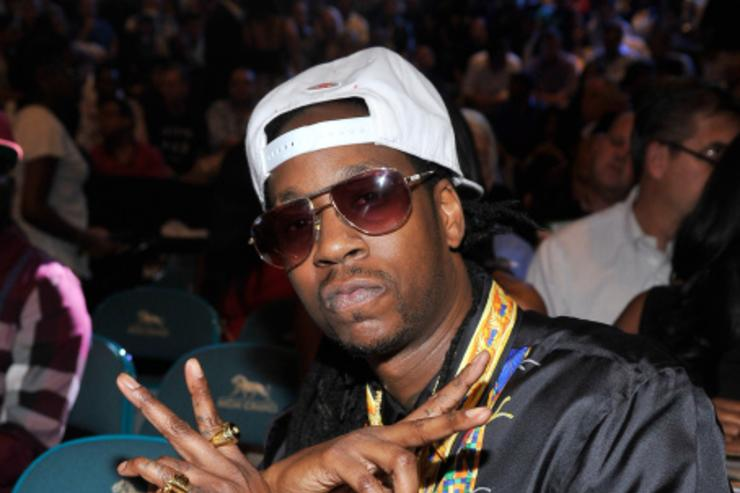 2 Chainz at Mayweather fight.