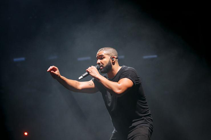 Drake performing at New Look Wireless Birthday Party