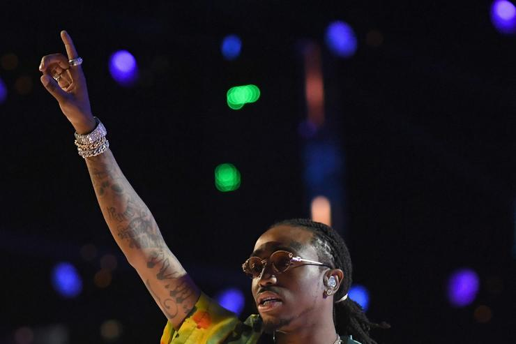 Quavo performing at BET Awards