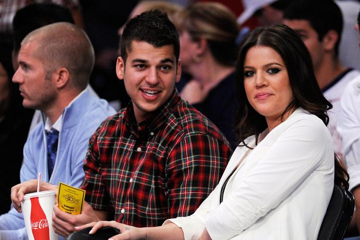 Rob Kardashian Atlanta Hawks v Los Angeles Lakers