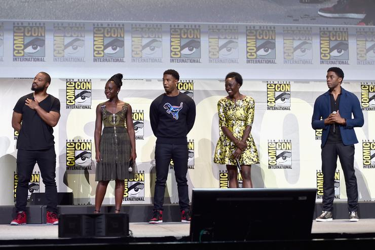 Black Panther Cast Marvel Studios Hall H Panel