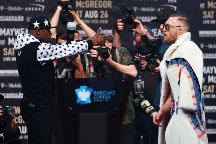 Mayweather, McGregor faceoff in BK
