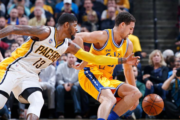 Paul George defends Klay Thompson
