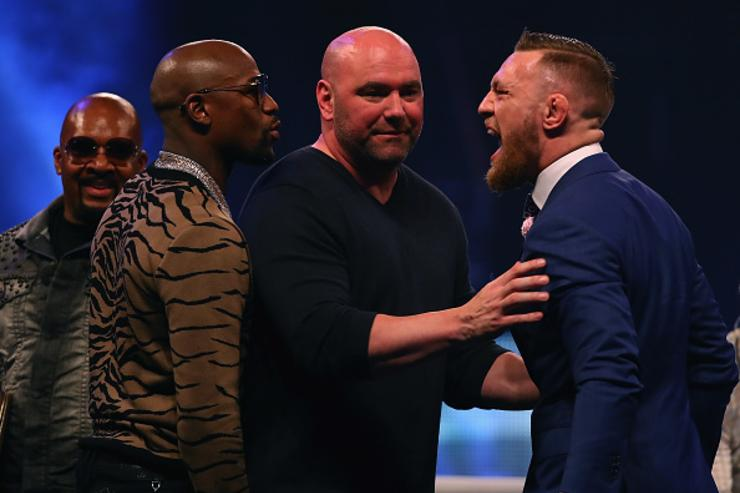 Mayweather x McGregor at London presser