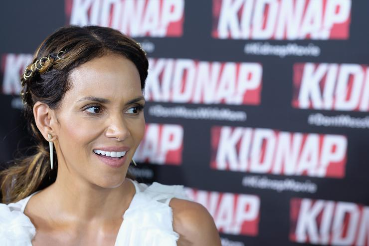 Halle Berry KIDNAP Star Halle Berry And Director Luis Prieto Attend Red Carpet In Miami