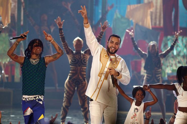 French Montana & Swae Lee perform at 2017 BET Awards