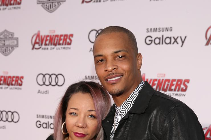 TI & Tiny at the Avengers movie premiere