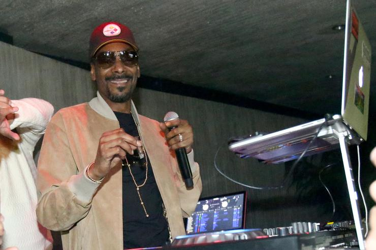 Snoop Dogg at Calvin Harris listening party