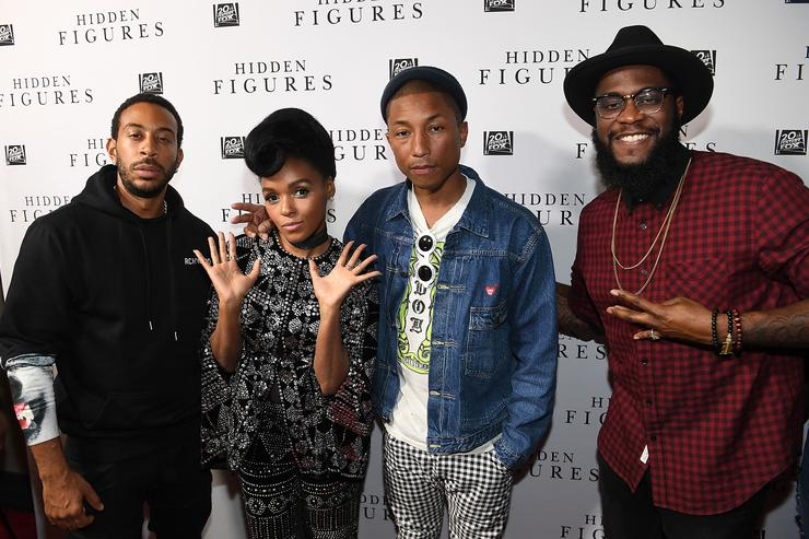 'HIDDEN FIGURES' Soundtrack Listening Party Hosted by DJ Drama with Janelle Monae & Pharrell Williams