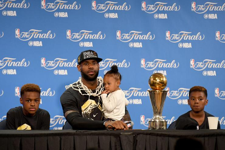 LeBron James and his kids