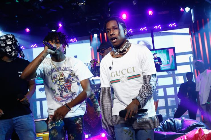 ASAP Mob performs at MTV