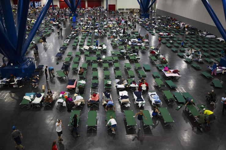 Hurricane Harvey relief camp