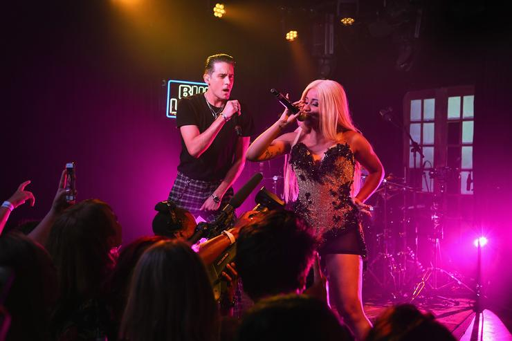 "G-Eazy and Cardi B performing ""No Limit"" together"