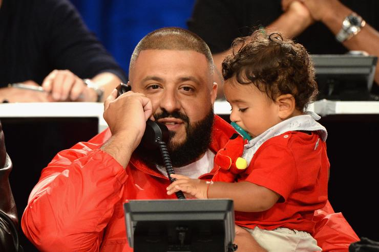 DJ Khaled & son Asahd at Hand in Hand Telethon