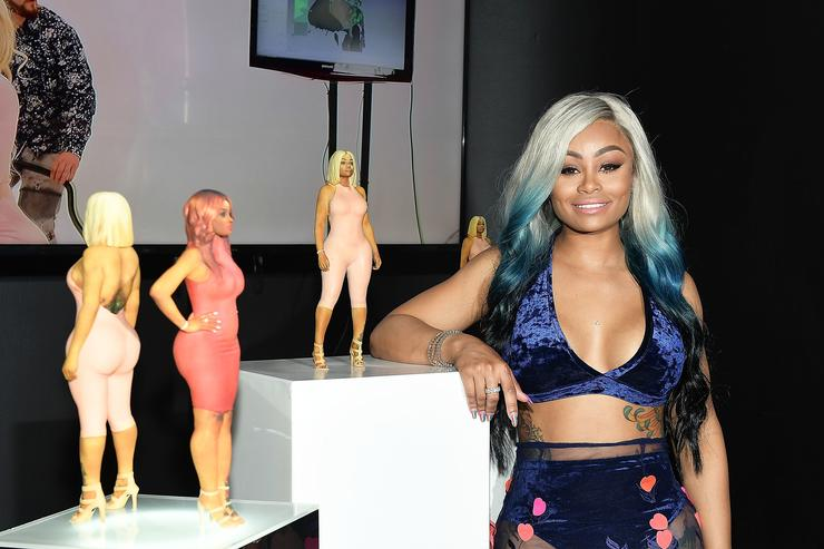 Blac Chyna showing off her doll launch